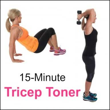 Chris Freytag demonstrating exercises to tone your triceps