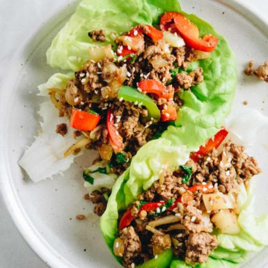 Make this super easy recipe for Beef Lettuce Wraps that make a delicious, healthy and low carb dinner!