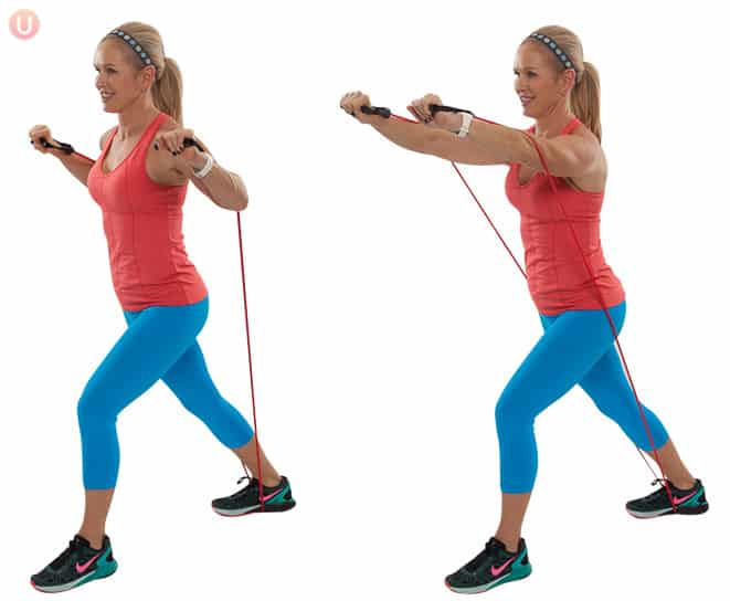 How To Do Resistance Band Chest Press