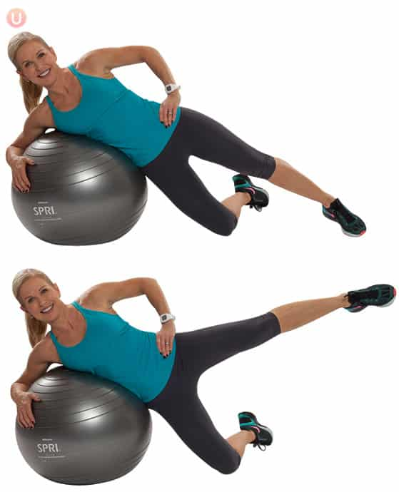Stability Ball Side Lift