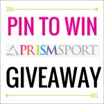 Pin To Win PRISMSPORT Giveaway written on a white box