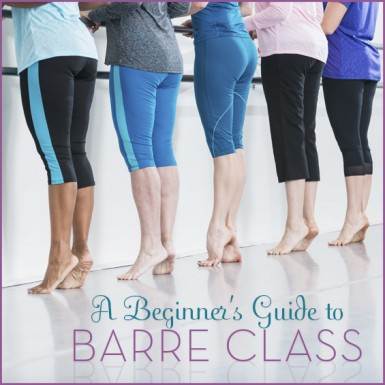 A Group of Women at A Barre Class