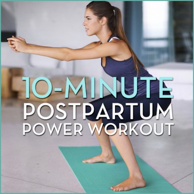 If the baby weight won't budge, give this 10-Minute Postpartum Power workout a try!