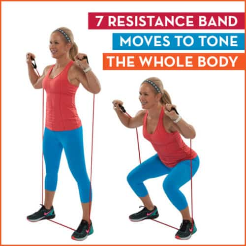 Get fit quick with these 7 resistance band moves to define your whole body.
