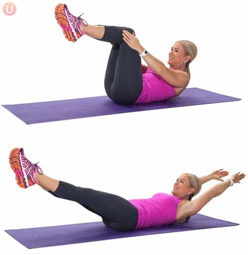 Learn how moves like double leg stretch can improve your stress incontinence.