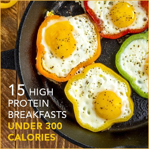 Check out these breakfast recipes all under 300 calories with major protein to fill you up!