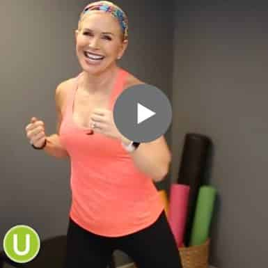 Learn this quick kickboxing routine to burn calories and have fun.