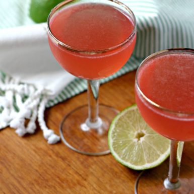 Whip up this healthier cranberry Kombucha Cosmopolitan for your next celebration for a reduced sugar cocktail that tastes amazing!