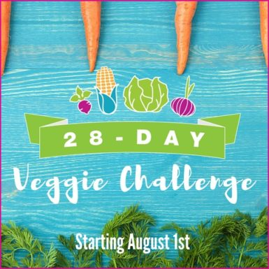 Join our 28-Day Veggie Challenge to learn new ways to make your favorite veggies, tons of nutritional info and up that veggie intake! #28dayveggiechallenge #eatyourveggies