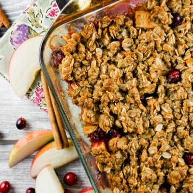 Check out this delicious recipe for a cranberry apple crisp! It's the perfect easy-to-make dessert!