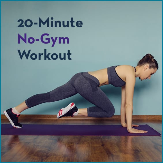 No equipment is necessary for this workout!