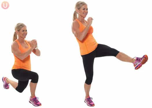 Kick through lunge for better legs.