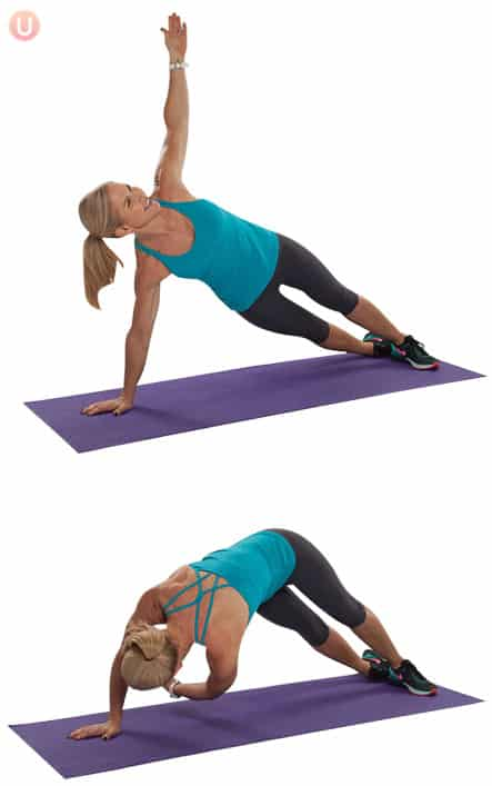 Side plank exercise to sculpt your core.
