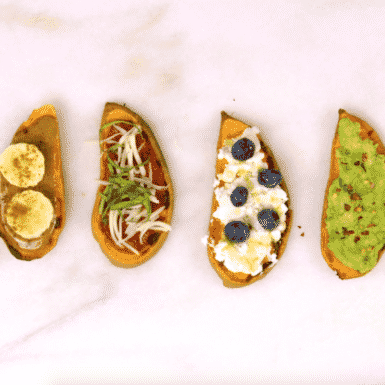 These gluten-free, vegetarian toasts are the perfect healthy breakfast and we've got four way for you to make them from sweet to savory!