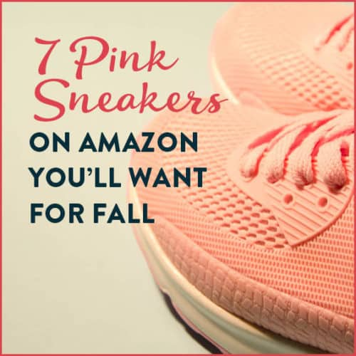 Pink sneakers for fall